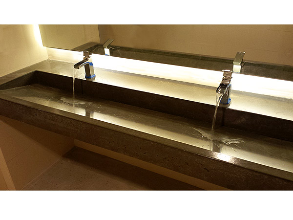 High Quality Double Vanity Ramp Sink In Stone