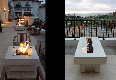 Fire Tables Is Alabaster   St. Regis Hotel, Monarch Beach, CA