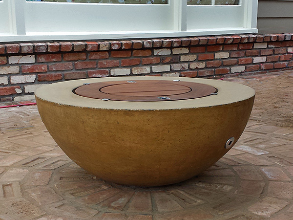 25 fire pit bowl replacement diy concrete gas woo ocher wood cover wide rim