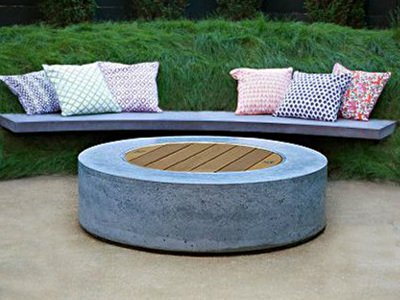 Ernsdorf Tambour Fire Table - Ernsdorf Design | Concrete Fire Pit Bowls,  Furniture and Art - Ernsdorf Tambour Fire Table - Ernsdorf Design Concrete Fire Pit